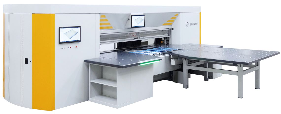 Semi-automated panel bender with J shape gauging system
