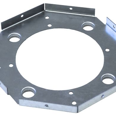 Multi-sided part with embosses and a center hole
