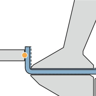 Sheet thickness tolerances do not affect the bend angle