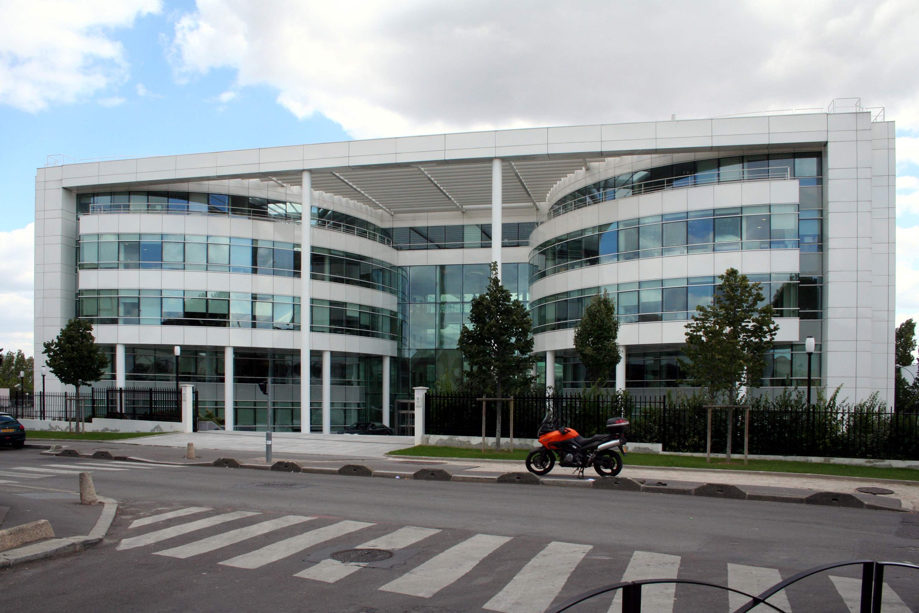 Office building with metal facade