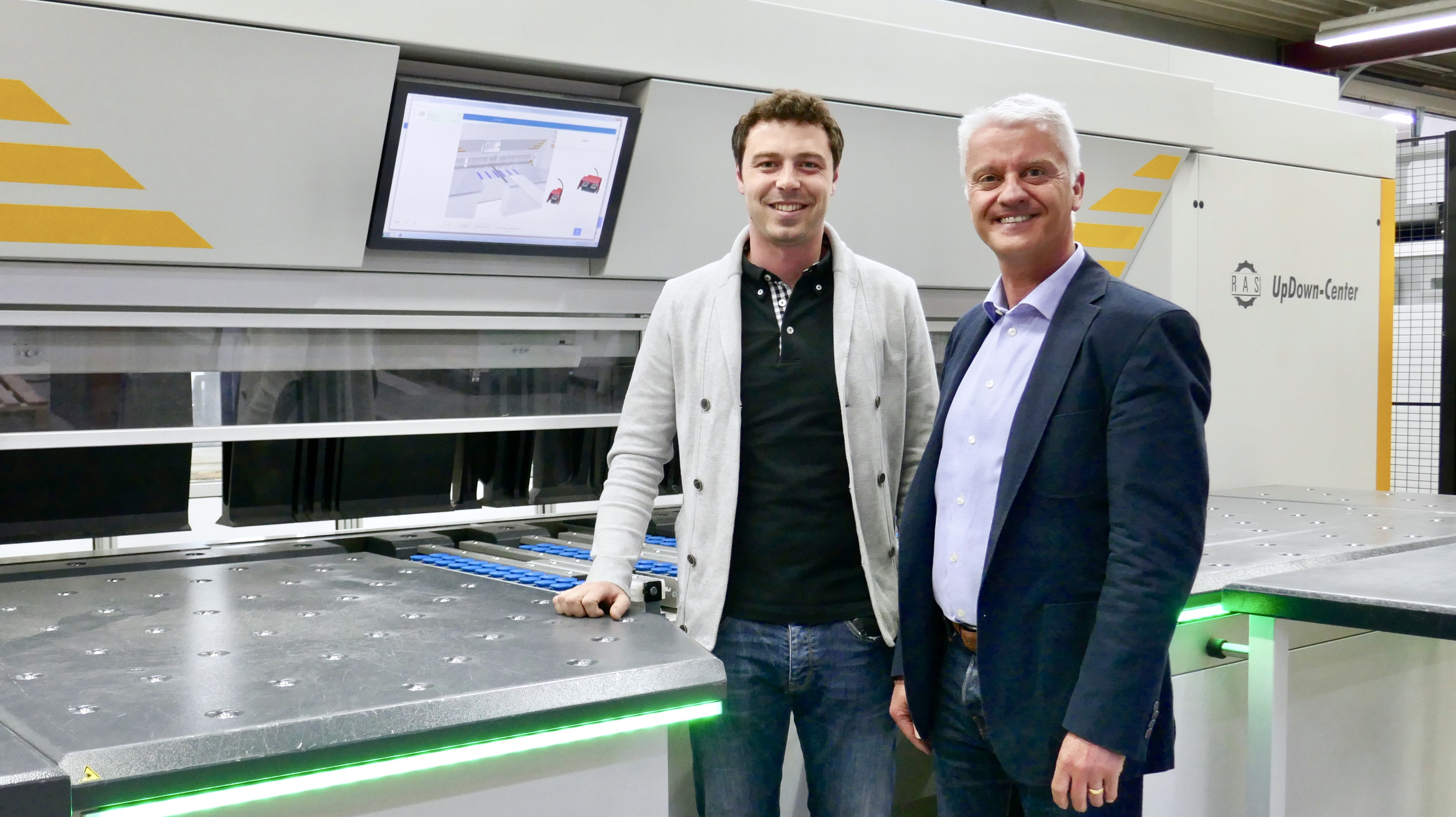 Alphatec production manager Stefan Schiegl with RAS CEO Willy Stahl